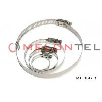 Wholesale Durable FTTH Accessories , Worm Drive Hose Clamps Stainless Steel 12mm Width from china suppliers