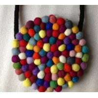Wholesale high quality fashion 100% pure Nepal handmade felt ball rug from china suppliers