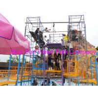 Quality Comfortable Safe Aqua Park Design With Stainless Steel Fastener / Fiberglass Flume for sale