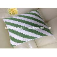 Wholesale Milk cotton Hollow Out Hand Crochet Cushion Cover White And Green Ripple Pattern from china suppliers