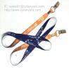 Buy cheap Flat sublimation lanyard with bulldog clip, dye sub lanyard with metal sheet crimp from wholesalers