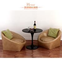 Wholesale Nordic Minimalist Modern Hotel Living Room Furniture / Single Leather Sofa from china suppliers
