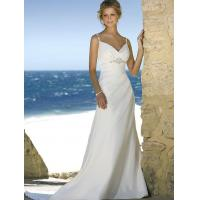 Wholesale Beach wedding gown features in satin and drapes in a modified silhouette from china suppliers