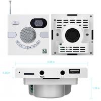 Buy cheap Wall Speaker Switch Design Portable Multi-functional Stereo Speaker FM Time Display TF Card USB FLASH AUX 3.5mm Soundbar from wholesalers