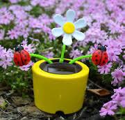 Wholesale car toys Creative Solar Power Dancing Flower Flip flap Swing Flower for Car/home gift from china suppliers