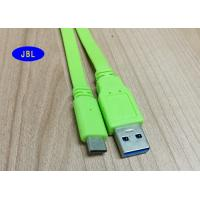 Wholesale PVC Jacket Green Flat USB 3.1 Type C Cable , USB 3.1 Type C Connector Cable from china suppliers