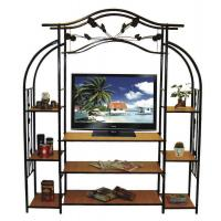 Wholesale Steady and Durable Book Shelf Living Room TV Stand Rack Trolley with Iron Art from china suppliers