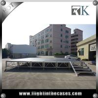 Wholesale Cheap 1.22x1.22m wooden assembly movable aluminum stage outdoor stage four legs stage from china suppliers
