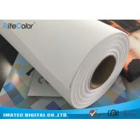 Wholesale Wide Format Digital Inkjet Cotton Canvas 320gsm / Printable Canvas Roll from china suppliers