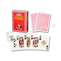 Wholesale Plastic Gambling Props Red Italy Modiano Texas Holdem Playing Cards from china suppliers