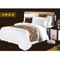 Wholesale Leave Pattern Decorative Bed Runner In Dark Color For Luxury Hotel from china suppliers