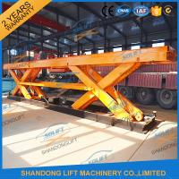 Wholesale 8T Electrical Hydraulic Scissor Heavy Duty Lift Tables Elevating Platform With Jack Lift from china suppliers