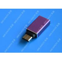 Wholesale MacBook Nexus 5X / 6P Type C Micro USB Purple Metal USB C to USB A 3.0 from china suppliers