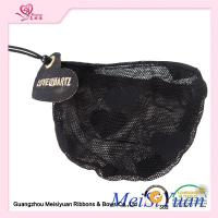 Wholesale Embroidery label Black Lace Drawstring Bags For Perfume Bottle ODM accepted from china suppliers