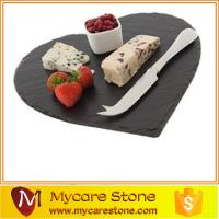 Wholesale Wholesale new heart shape black slate cheese board from china suppliers