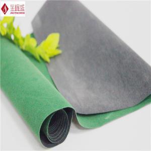 Wholesale Green Velvet Flocking Fabric , Nonwoven Furniture / Sofa Upholstery Velvet Fabric from china suppliers