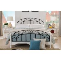 Wholesale High End Wrought Iron Queen Bed , White Metal Frame Double Bed With Mattress from china suppliers