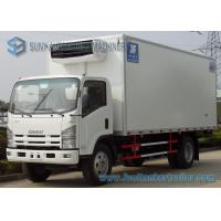 Wholesale ISUZU 4 X 2 Refrigerated Box Truck  8000KG White 6 Wheelers Refrigerator Van Truck from china suppliers