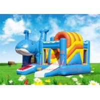 Buy cheap Kids Beautiful Dolphin 0.55mm PVC Inflatable Jumping Bouncy Castle with CE Blower from wholesalers
