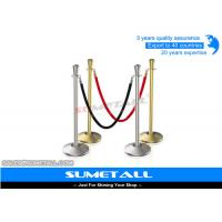 Quality Stainless Steel Retractable Barrier Posts / Security Rope Barriers For Crowd Control for sale
