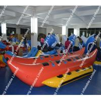 Wholesale PVC Orange Inflatable Water Game Banana Boat Fire Resistance from china suppliers