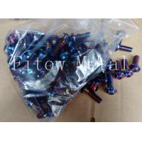 Wholesale OEM Anodized Titanium Torx Screws / Racing Bike Motorcycle Bolts Torx Security Screws from china suppliers