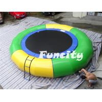 Wholesale 0.9mm Thickness PVC Tarpaulin Inflatable Water Toys Water Trampoline with Climbing Ladder from china suppliers