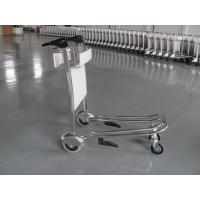 Wholesale Mini Three Wheels Metal Supermarket / Airport Luggage Trolley With Brake 300KGS from china suppliers