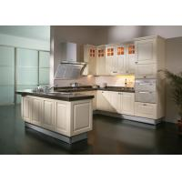 Wholesale Blum Hinges Solid Wood Kitchen Furniture , 18mm Plywood Carcass Apartment Kitchen Cabinets from china suppliers