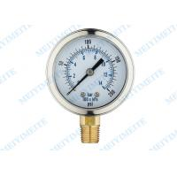 Wholesale 2.5 Inch Liquid Pressure Gauge / Glycerin pressure gauge with bayonet bezel from china suppliers