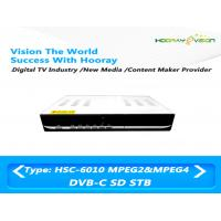 Wholesale 2 MByte DVB C Set Top Box SD / H.264 Digital Cable Set Top Box 1000 Storable Programs from china suppliers