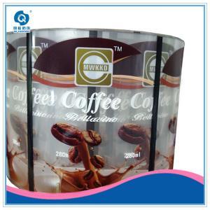 Quality transparent white PVC,PET bottle label stickers manufacture for sale
