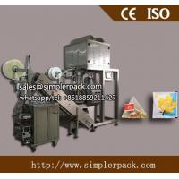 Buy cheap Stainless steel  SUS 304 Pyramid/Triangle Teabag Packing Machine with outer Envelope (with thread and tag) from wholesalers