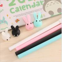 Wholesale Flexible with different cute animal rubber ballpoint pen from china factory from china suppliers