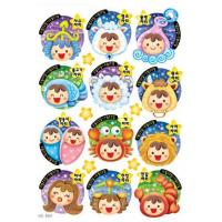 Wholesale Fashional decorative PVC Cartoon Sticker for kids 8401 from china suppliers