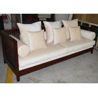 Wholesale Contemporary Chinese Style Luxury Living Room Furniture 3 Seater Teak Wood Sofa SGS from china suppliers
