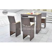 Wholesale Metal Rattan Wicker Bar Table And Chairs Set 5 Piece For Indoor / Outdoor from china suppliers