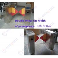 Wholesale 90CM width Sliding Card Double Wing access control barriers with automatic sensor from china suppliers