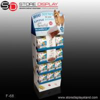 China corrugated point of purchase display for dog foods on sale