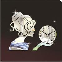 Wholesale Beautiful Fairy Wall Clock 3D DIY Frameless Sticker Adhesive Wall Clock Living Room Decor from china suppliers