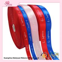 Wholesale Various color custom printed ribbon 1 inch  satin ribbon roll 100% polyester Material from china suppliers