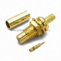 Wholesale SMC Straight Bulkhead Jack for RG-174/316 Cable, 50 ohms RF Coaxial Connector from china suppliers