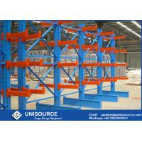 Wholesale Medium Duty Cantilever Racks For Lumber , Double Sided Cantilever Pipe Rack from china suppliers