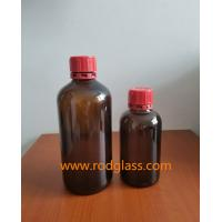 Buy cheap 250ml,500ml amber reagent glass bottle for liquid with tamper evidient caps from wholesalers