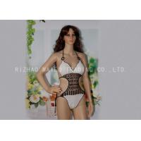 Wholesale White One Piece Crochet Swimwear Bikini Hollow Crochet Swimming Costume from china suppliers