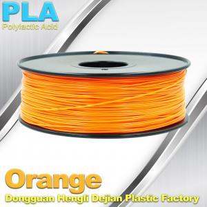China Biodegradable Orange PLA 3d Printer Filament  1.75mm Materials For 3D Printing on sale