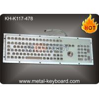 Wholesale 109 Keys IP65 Rated Metal Industrial Keyboard With Trackball Mouse And Numeric Keypad from china suppliers