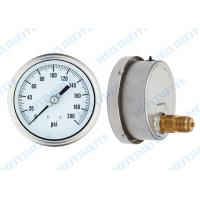 Wholesale Stainless steel 100mm back pressure gauge liquid filled sealing type with tube from china suppliers