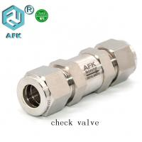 China Stainless Steel 3mm 6mm 8mm Non- Return Valve Gas Check Valve on sale