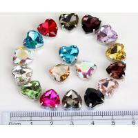Wholesale heart shape 10mm colored crystal sew on rhinestone beads Fancy Stones Jewels from china suppliers